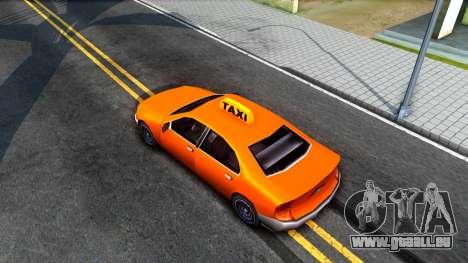 Kuruma GTA 3 Taxi pour GTA San Andreas vue arrière