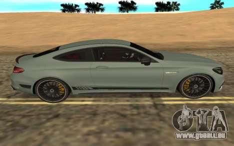Mercedes-Benz C63S 2017 für GTA San Andreas linke Ansicht