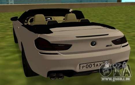 BMW M6 F13 Cabrio für GTA San Andreas zurück linke Ansicht