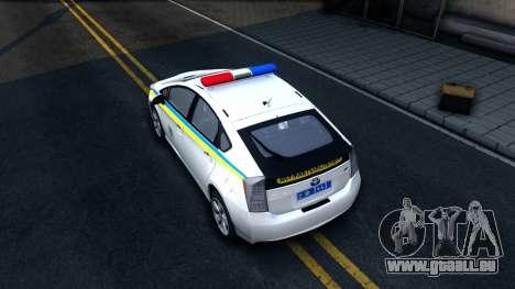 Toyota Prius Ukraine Police für GTA San Andreas Rückansicht