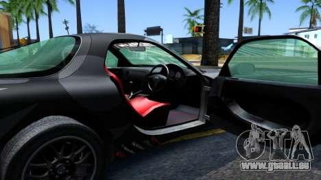 Mazda RX-7 pour GTA San Andreas vue intérieure