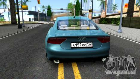 Audi RS7 Sportback pour GTA San Andreas sur la vue arrière gauche