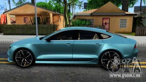 Audi RS7 Sportback pour GTA San Andreas laissé vue
