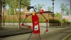 Un extincteur d'incendie