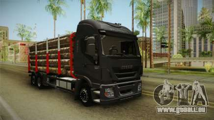Iveco Stralis Hi-Way 560 E6 6x2 Timber v3.0 pour GTA San Andreas