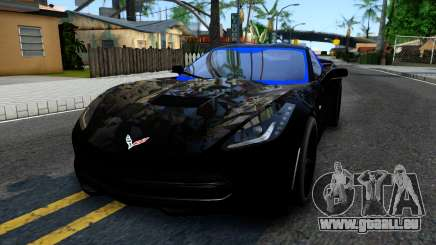 Chevrolet Corvette Stingray C7 2014 Blue Star für GTA San Andreas
