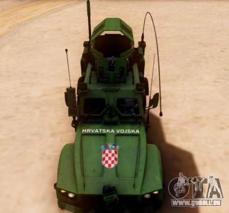 Oshkosh M-ATV croate Véhicule Blindé de la Textu pour GTA San Andreas vue intérieure