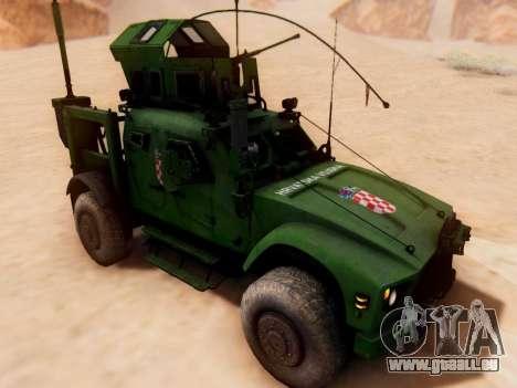 Oshkosh M-ATV croate Véhicule Blindé de la Textu pour GTA San Andreas sur la vue arrière gauche