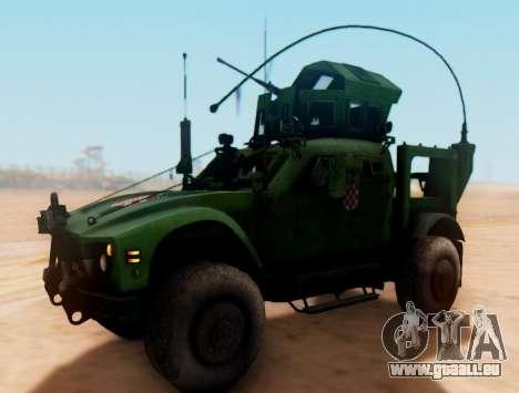 Oshkosh M-ATV croate Véhicule Blindé de la Textu pour GTA San Andreas