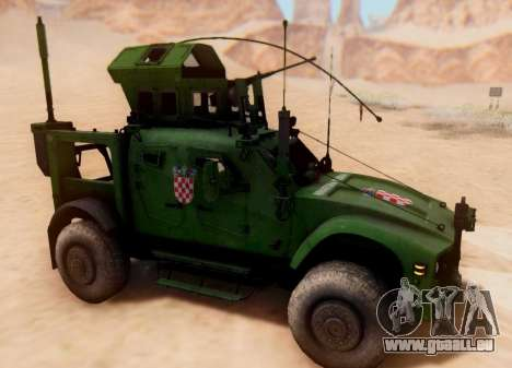 Oshkosh M-ATV croate Véhicule Blindé de la Textu pour GTA San Andreas laissé vue