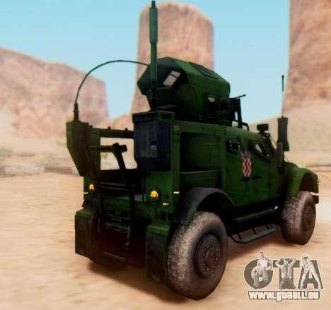 Oshkosh M-ATV croate Véhicule Blindé de la Textu pour GTA San Andreas vue arrière