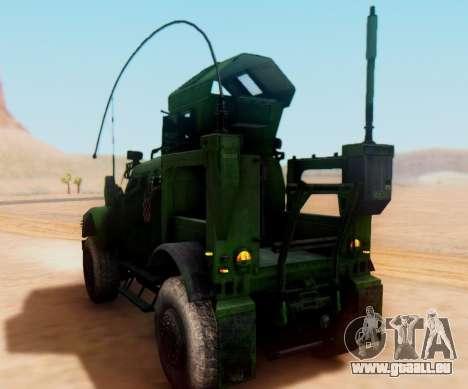 Oshkosh M-ATV croate Véhicule Blindé de la Textu pour GTA San Andreas vue de droite