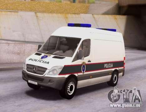 Mercedes-Benz Sprinter BIH Police Van pour GTA San Andreas