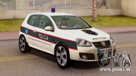 Golf V BIH Police Car V2 (Single Siren) pour GTA San Andreas