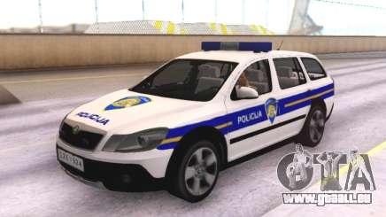 Skoda Octavia Scout Croatian Police Car für GTA San Andreas