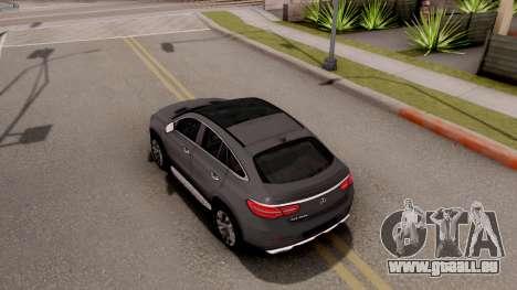 Mercedes-Benz GLE 350d für GTA San Andreas Rückansicht