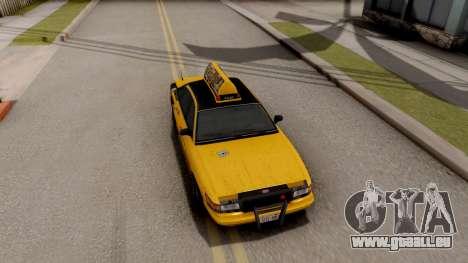 GTA IV Taxi pour GTA San Andreas vue arrière