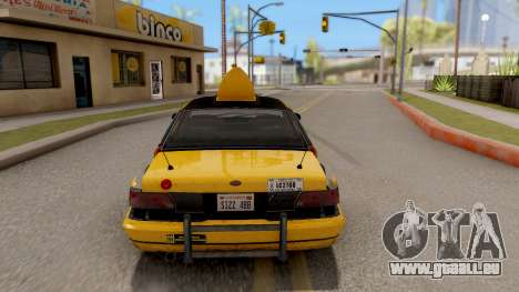 GTA IV Taxi pour GTA San Andreas sur la vue arrière gauche