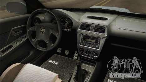 Subaru Impreza WRX Tunable für GTA San Andreas Innenansicht