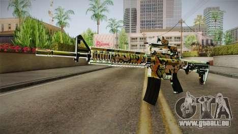 Orange Camo M4 für GTA San Andreas