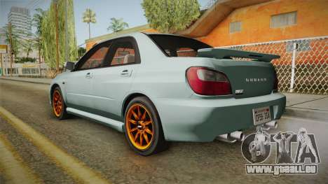 Subaru Impreza WRX Tunable für GTA San Andreas linke Ansicht