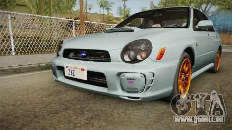 Subaru Impreza WRX Tunable für GTA San Andreas Seitenansicht
