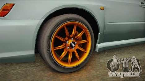 Subaru Impreza WRX Tunable für GTA San Andreas Rückansicht