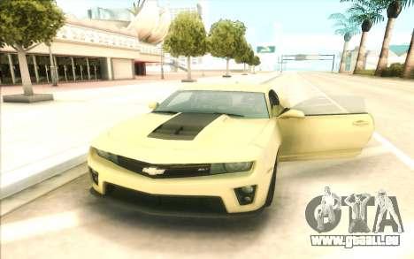 Chevrolet Camaro ZL1 pour GTA San Andreas
