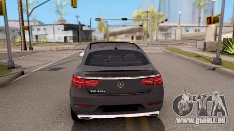 Mercedes-Benz GLE 350d für GTA San Andreas zurück linke Ansicht