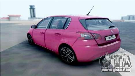 Peugeot 308 pour GTA San Andreas laissé vue