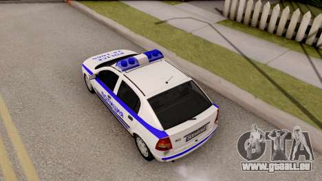 Opel Astra G Bulgarian Police pour GTA San Andreas vue arrière