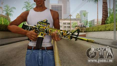 Orange Camo M4 für GTA San Andreas dritten Screenshot