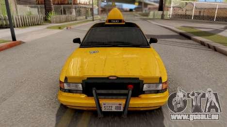 GTA IV Taxi pour GTA San Andreas vue de droite