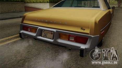 Plymouth Fury Salon (RL41) 1978 HQLM für GTA San Andreas Innenansicht