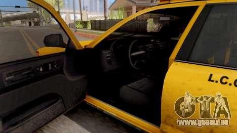 GTA IV Taxi pour GTA San Andreas vue intérieure