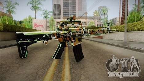 Orange Camo M4 für GTA San Andreas zweiten Screenshot