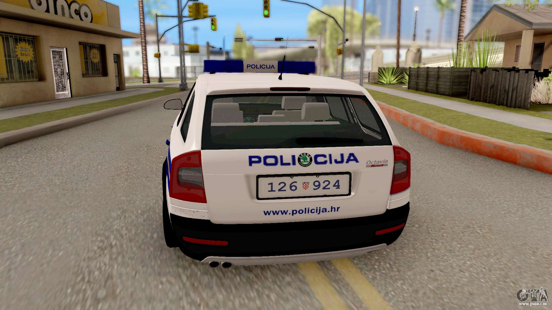 skoda octavia scout croatian police car f r gta san andreas. Black Bedroom Furniture Sets. Home Design Ideas