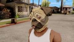 Maske Hund Mops