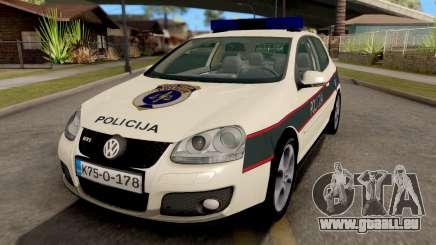 Volkswagen Golf V - BIH Police Car für GTA San Andreas