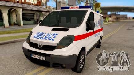 Opel Vivaro Serbian Ambulance pour GTA San Andreas