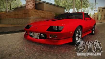 Chevrolet Camaro IROC-Z 1990 1.1.0 HQLM pour GTA San Andreas