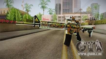Orange Camo M4 pour GTA San Andreas