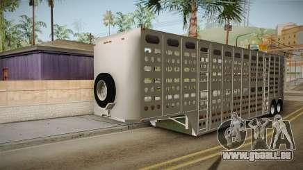 Double Trailer Livestock v1 für GTA San Andreas