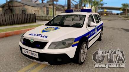 Skoda Octavia Scout Croatian Police Car pour GTA San Andreas