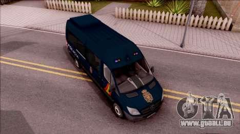 Mercedes-Benz Sprinter Spanish Police pour GTA San Andreas vue de droite