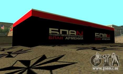 BPAN Arménie garage à SF pour GTA San Andreas dixième écran