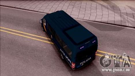 Mercedes-Benz Sprinter Spanish Police pour GTA San Andreas vue arrière