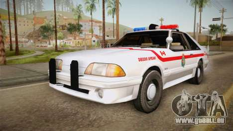 Ford Mustang SSP 1993 YRP pour GTA San Andreas