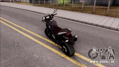 Honda CB500X Turkish Police Motorcycle pour GTA San Andreas laissé vue