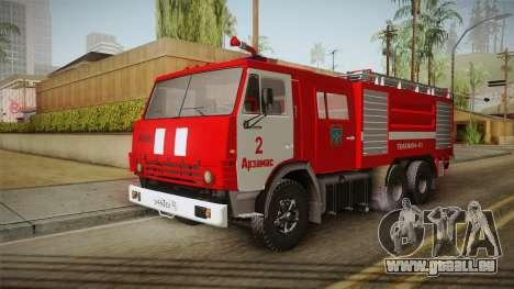 KamAZ 53212 Feuer-LKW in der Stadt Arzamas für GTA San Andreas zurück linke Ansicht